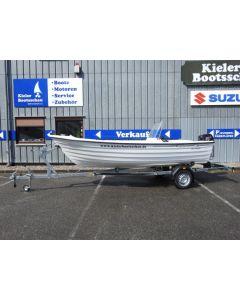 Angelboot Crescent 465 Trader inkl. Suzuki DF15ATL + Trailer LAGERBOOT