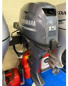 Aussenborder Yamaha F15CMHL 4- Takt 15PS Gebrauchtmotor umgebaut auf Fernschaltung.