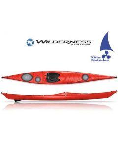 Kajak Seekajak Wilderness Systems Zephyr 155 inkl. Skeg Ausstellungsboot in Rot