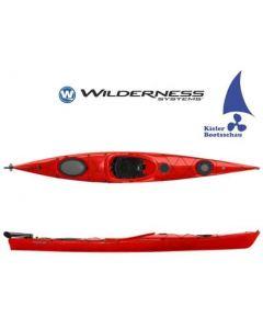Kajak Tourenkajak Wilderness Systems Focus 145 inkl. Steueranlage Ausstellungsboot in Rot
