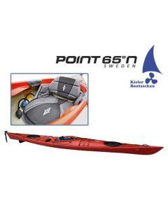 Kajak Tourenkajak Point 65 Seacrusier inkl. aufblasbaren Sitz, Steueranlage und Skeg Ausstellungsboot in Rot