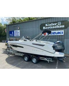 Karnic SL 652 mit Yamaha F225FETX-EFI V6 und Brenderup Trailer 2500kg Vorführboot Neu