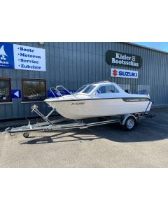 Motorboot Crescent 491 Gemini inkl. Yamaha F60FETL-EFI und 1300kg Wicktrailer Gebrauchtboot