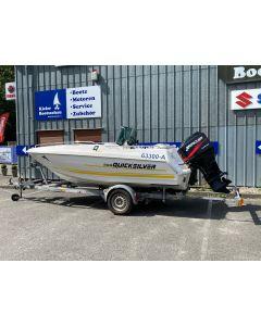 Motorboot Quicksilver 500 Open inkl. Mercury 75ELPT und Harbeck 1300kg Trailer - Gebraucht-