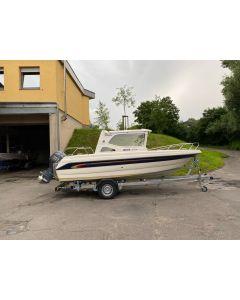 Motorboot Bella 572 C mit Yamaha F70AETL-EFI und TPV 1300kg Trailer